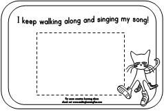 Pete the Cat Picture Frame available at www.makinglearningfun.com.