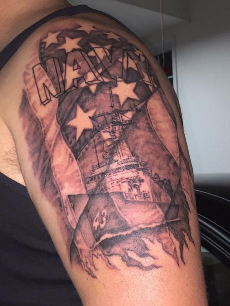 Navy tattoo from the US Navy Veterans group on Facebook