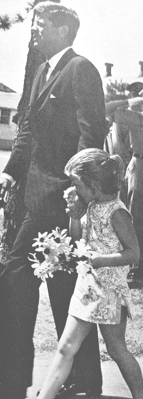 Caroline Kennedy kisses JFK's hand