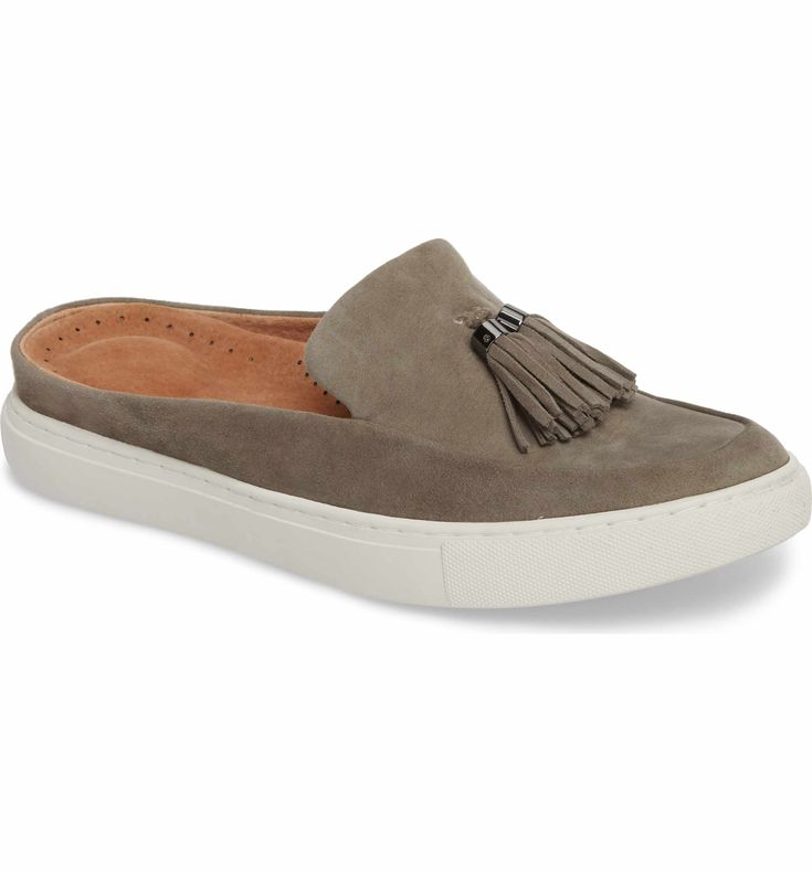 Gentle Souls Rory Loafer Mule Sneaker with tassels from Nordstrom – $79 | Spring 2018 trends | Comfortable shoes | Women's fashion | Spring Fashion | Sophisticated women's fashion | Fashion over 40 | Fashion over 50 | Clothes for women over 50 | Clothes for women over 60 | #womensfashionclothingover50 #FashionTrendsForWomenOver50
