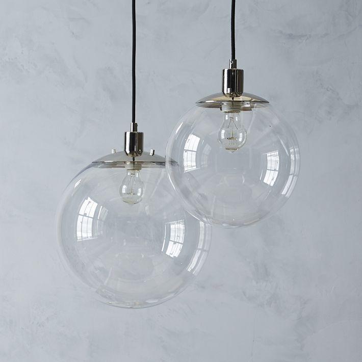 globe pendant west elm modern lighting