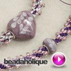 Tutorial - Videos: How to Add a Pandora Style Bead to Beaded Kumihimo | Beadaholique