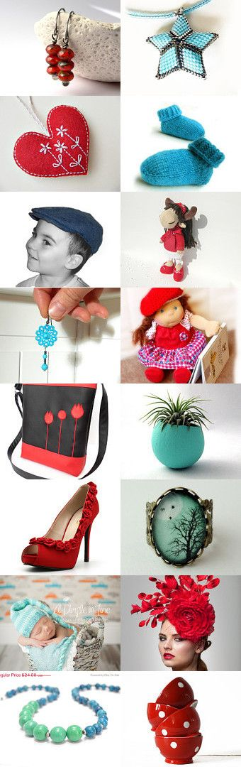 Red and blue gifts by Piros on Etsy--Pinned with TreasuryPin.com