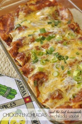Chicken Enchiladas and Enchilada Sauce