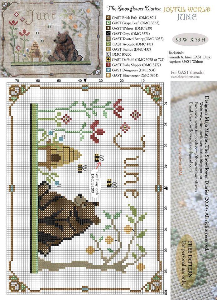 The Snowflower diaries free pattern June