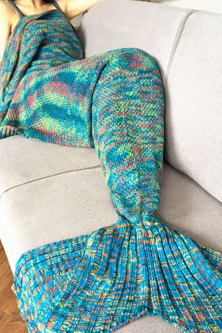 $21.02   Fashion Crochet Knitted Super Soft Mermaid Tail Shape Blanket For Adult
