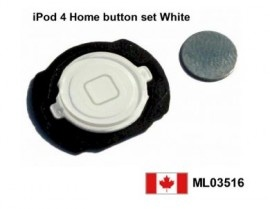 Apple iPod touch 4G 4th Gen White Home button with flex cable Canada  Price = $14.50