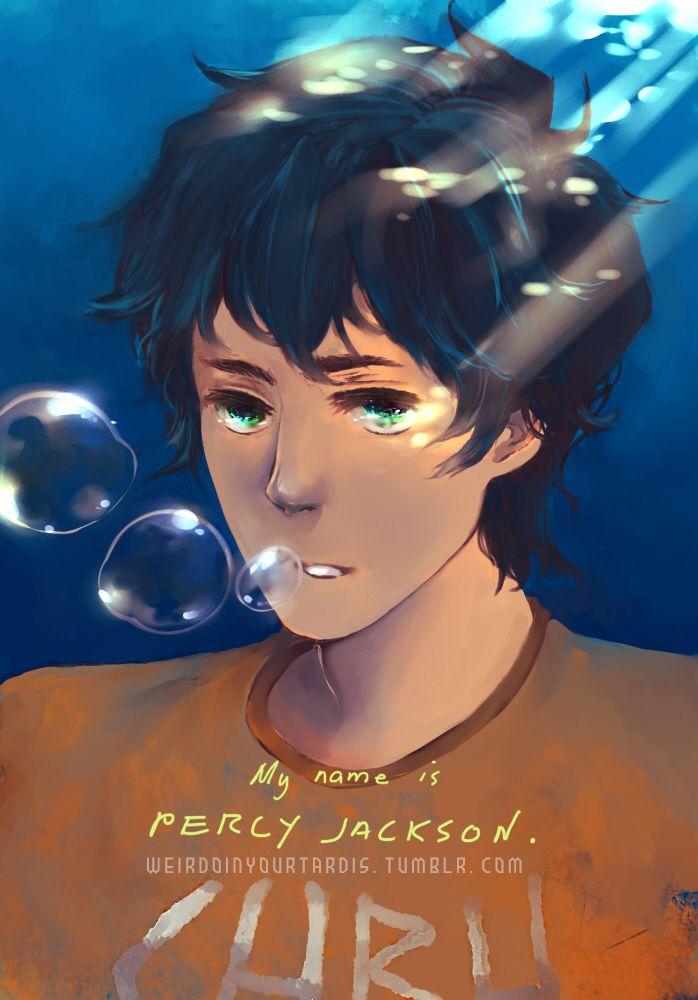 His name is Percy Jackson by weirdoinyourcloset.deviantart.com on @DeviantArt
