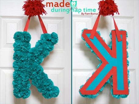 DIY Tutorial From A Catch My Party Member - How to Make A Tissue Paper Monogrammed Letter   Catch My Party