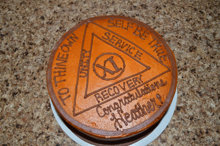 11th Sobriety Birthday Bronze Medallion Cake Just Cake