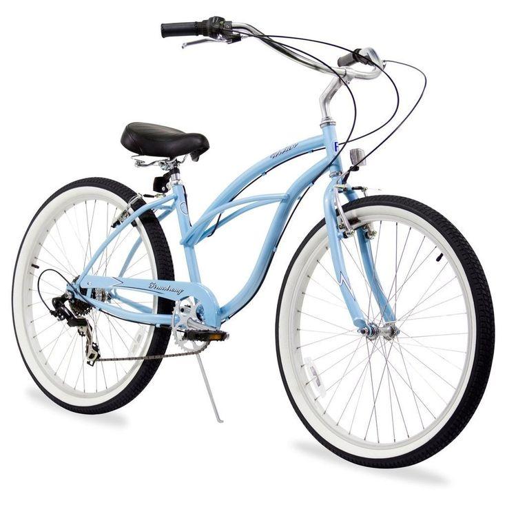 """26"""" Firmstrong Urban Lady Seven Speed Women's Beach Cruiser Bike, Baby"""