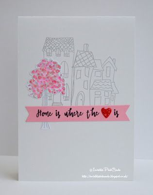 Handmade Happy New Home card using STAMPlorations stamps