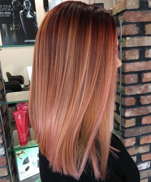 20 Rose Gold Hairstyles Balayage haircuts hairstyles