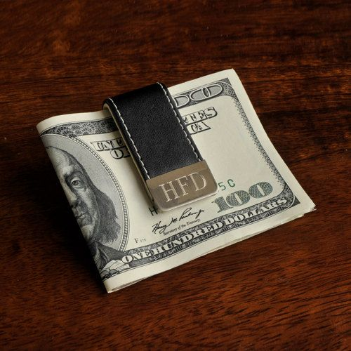 Gentry Leather Money Clip  Personalized  by tiposcreations on Etsy, $22.99
