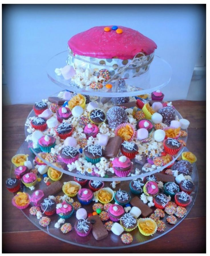 ANNATTO Zest kids party platter photo shoot. Abundance of old fashioned party food for kids.   GEELONG DUO creating amazing colourful festive platters and party ideas. This one set on a Bouche Board Cupcake Stand.