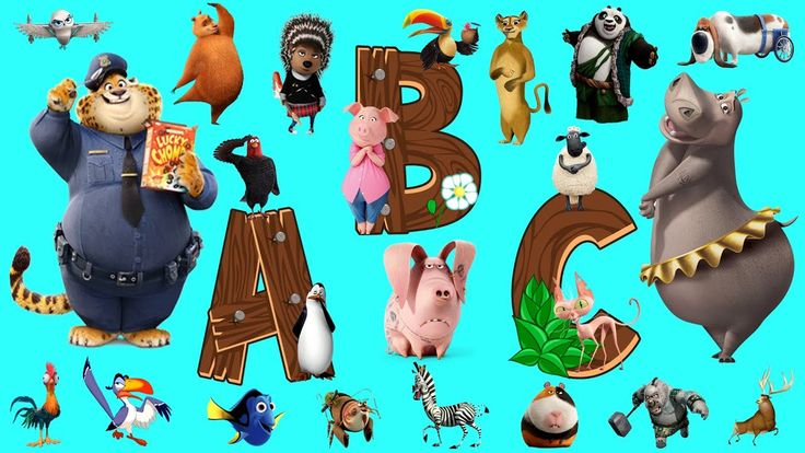 Learn Alphabet with Cartoon, Learning videos for toddlers, ABC Cartoon Animals Names and Sounds