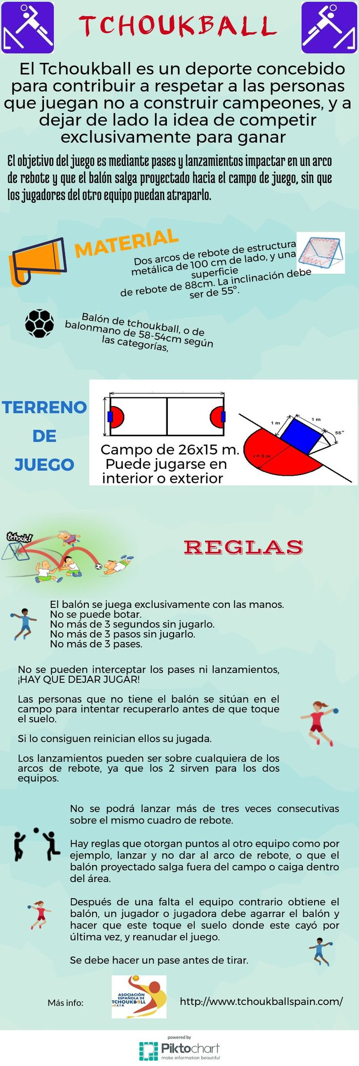 Tchoukball. Reglas del un deporte diferente. | infografias propias ...