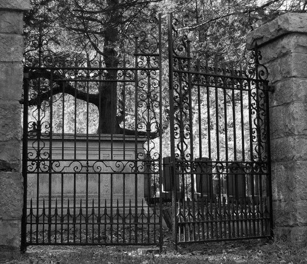 """Also known as the """"Cemetery of the Damned"""", Stull Cemetery reportedly holds the body of a son spawned by Satan and a human mother. Rumors of Satanic worship and unexplained lights at night only add to the mystery and frightening aura of this spooky location that many local residents feel is literally the gateway to Hell."""