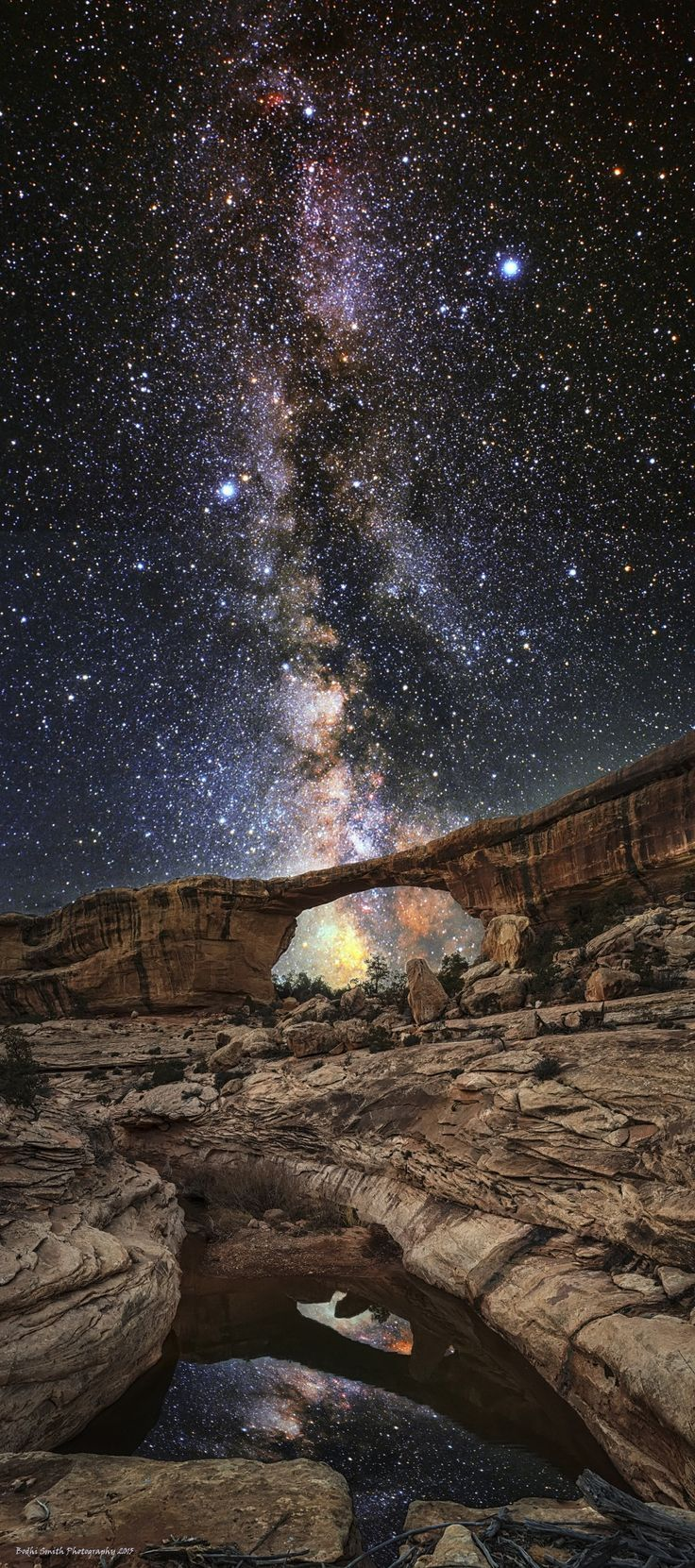 Lasciati guidare dalle stelle.(Owachomo Bridge, Natural Bridges National Monument, Utah)
