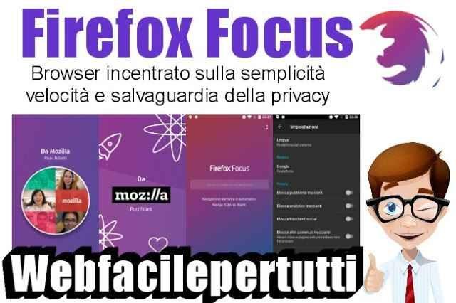 (Firefox Focus) Browser incentrato sulla semplicità, velocità e salvaguardia della privacy Browser incentrato sulla semplicità, velocità e salvaguardia della privacy  Ritorniamo a parlare di Browser per dispositivi Mobili , oggi vogliamo segnalarvi Firefox Focus un'ottima applicazione disp #firefoxfocus #app #browser