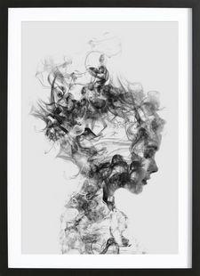 Dissolve Me - Dániel Taylor - Affiche encadrée - bois
