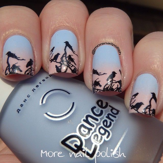 Captivating scheme by @morenailpolish on instagram using a very intricate Nail Stamping Plate MM14 from Messy Mansion.