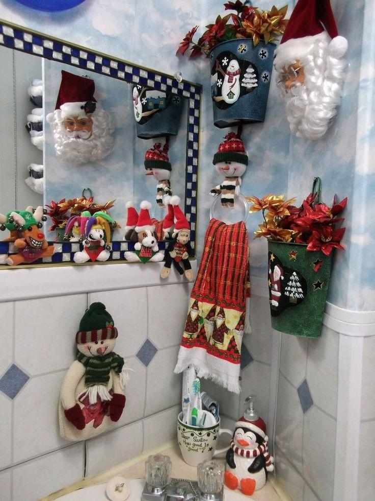 Ideas para decorar tu ba o para la navidad la navidad ya for Adornos navidenos para el bano