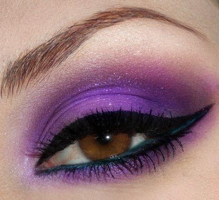 .: Purple Eyeshadows, Eye Makeup, Cat Eye, Color, Eye Shadows, Brown Eye, Makeup Ideas, Eyemakeup, Green Eye