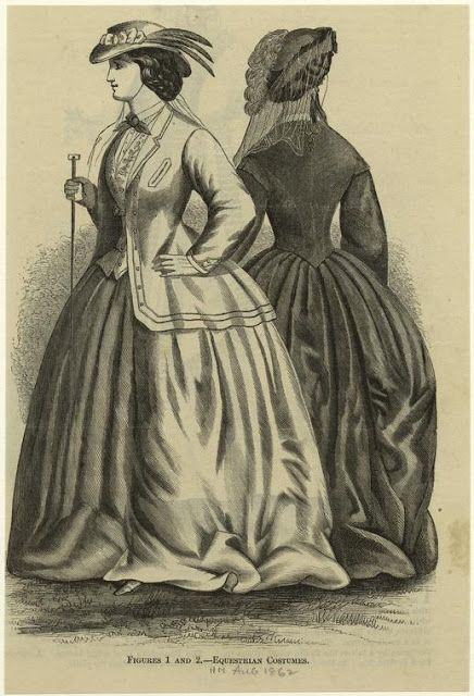 Equestrian Costumes. Harper's Magazine, August, 1862. NYPL Digital Gallery. | In the Swan's Shadow