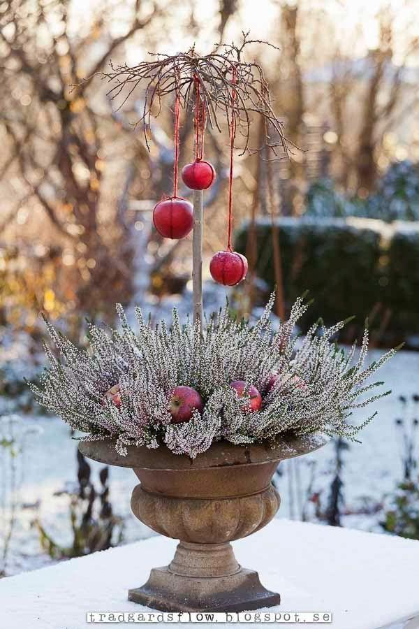 Trädgårdsdekoration, vinter.