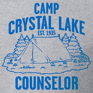 Camp Crystal Lake Counselor Jason Friday The 13th Summer Vintage Color Tshirt | eBay