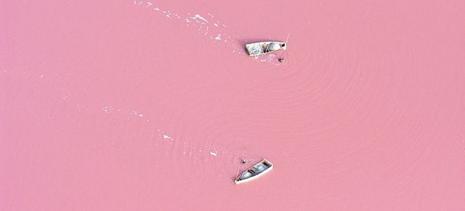 розовое озеро   Ретба ( Retba)   Сенегал