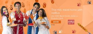 Redbus  Get 10% Discount on paying via ICICI Bank cards