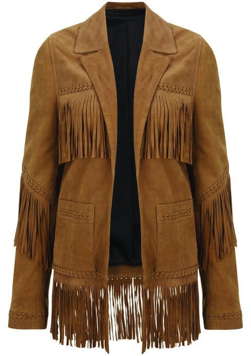 Suede Fringe Jacket, $420: Kate Moss for Topshop | Boca Raton Magazine