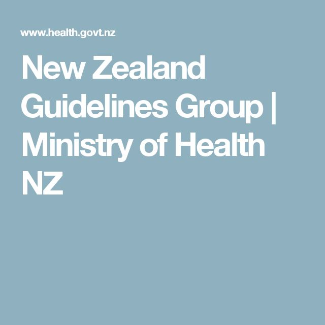 New Zealand Guidelines Group   Ministry of Health NZ