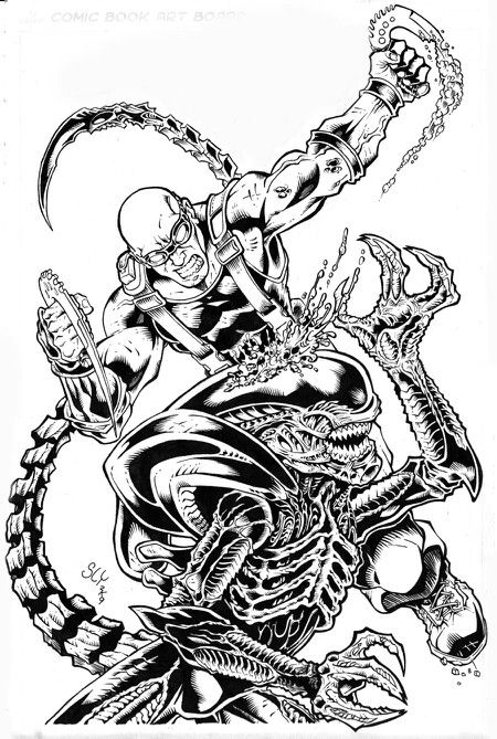 142 best predators or yautjas and aliens or xenomorphs Xenomorph coloring book