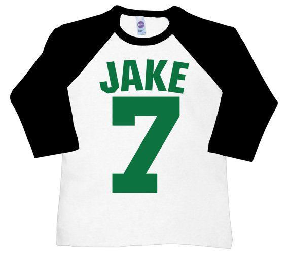 Personalized Baseball Tee birthday number jersey shirt ...