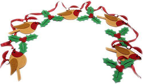 Festive Felt Robin And Holly Bunting Christmas Decoration... https://www.amazon.co.uk/dp/B01M7XSGQ2/ref=cm_sw_r_pi_dp_x_sLghybB7YGABZ