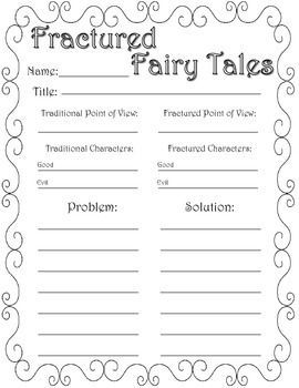 FRACTURED FAIRY TALE GRAPHIC ORGANIZERS - TeachersPayTeachers.com