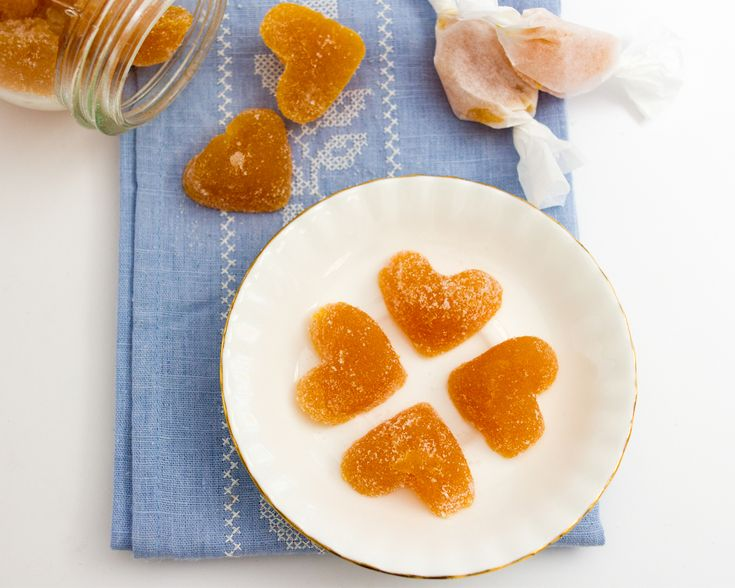 These jellies are made with pectin to make them a vegan friendly alternate to gummies. They are also loaded with fruit purée, so there is no lack of flavour.