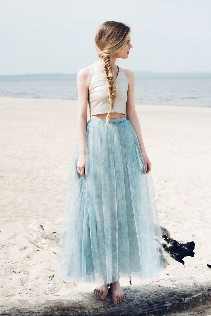 Fandaronada - spring/summer collection 2015  1) gold top 2) maxi tulle skirt