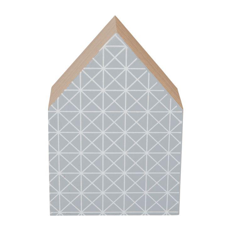 Huis grafische print medium grijs