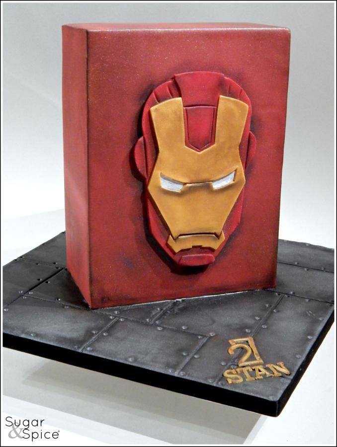 Iron Man Cake (with 2D 'mask' pictorial) - Cake by Sugargourmande Lou