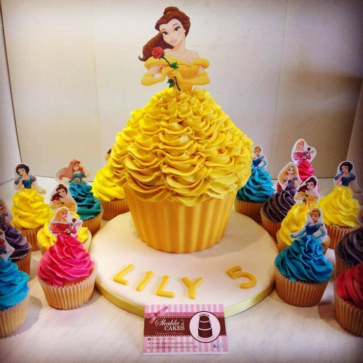 Princess Belle Cupcakes | Belle & her princesses
