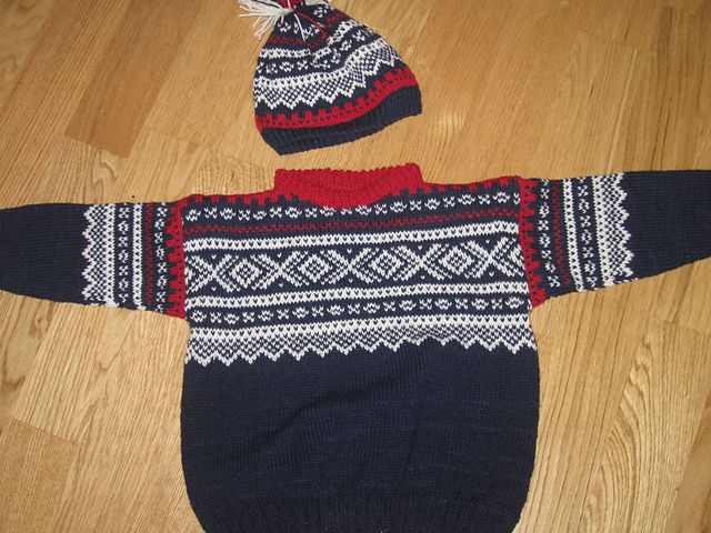 Marius sweater and hat for my grandson, 2 yrs