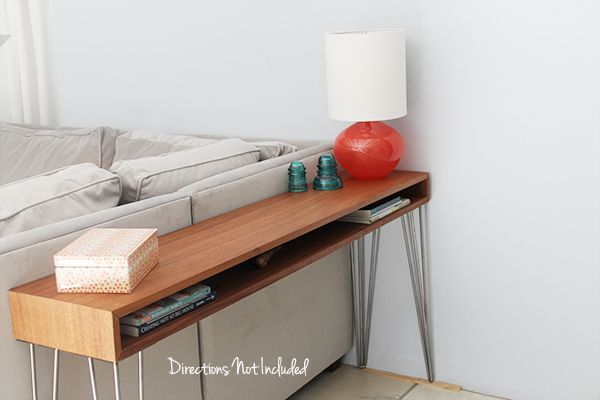 A DIY MidCentury Console Table - I've been wanting a small console table for the back of our sofa since we got it. That little corner spot is my favorite to sit…