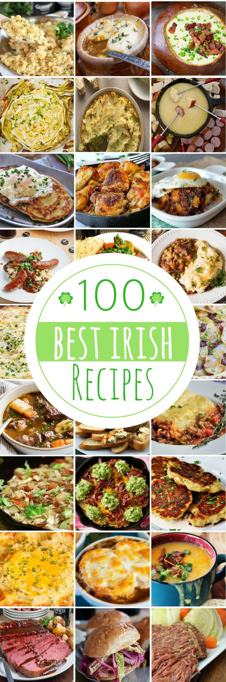 100 Irish Recipes for St Patrick's Day