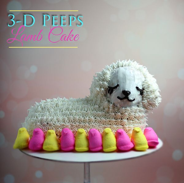 3-D Lamb Cake and 3 Awesome Things To Make with Peeps.  #PeepsTreats #Giveaway