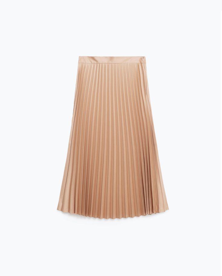 Falda plisada Zara, 799.00 MXN