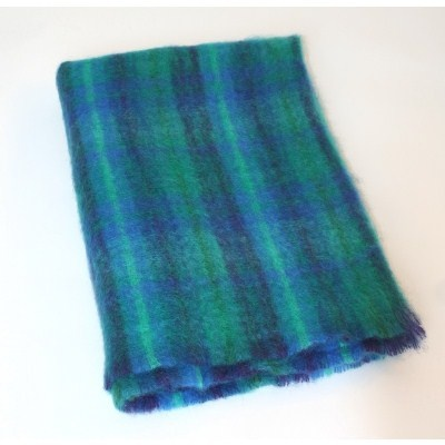 """These large mohair throw are woven from the softest mohair yarns by John Hanly at Ballyartella in Co. Tipperar. The fluffy fibres trap the air and make them one of our warmest throws and the colours blend together brilliantly. This large size is ideal for the end of a bed.    Size: 137 x 182 cms   (54"""" x 72"""").    (Also available as a Small Mohair Throw)."""